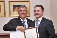 Рустам Минниханов и Максим Хамет